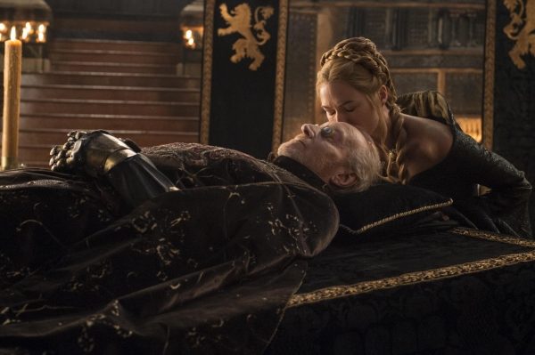 Charles Dance as Tywin Lannister, Lena Headey as Cersei Lannister